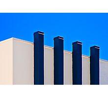 Blue Poles:  A Literal Interpretation Photographic Print