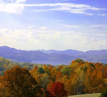 Watauga Lake Autumn by Annlynn Ward