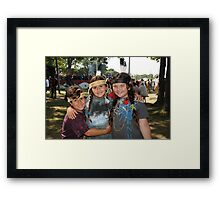 My Three little Indians Framed Print
