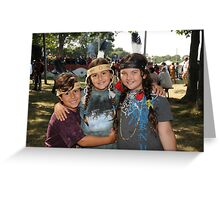 My Three little Indians Greeting Card