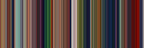 Moviebarcode: The Lion King (1994) [Simplified Colors] by moviebarcode