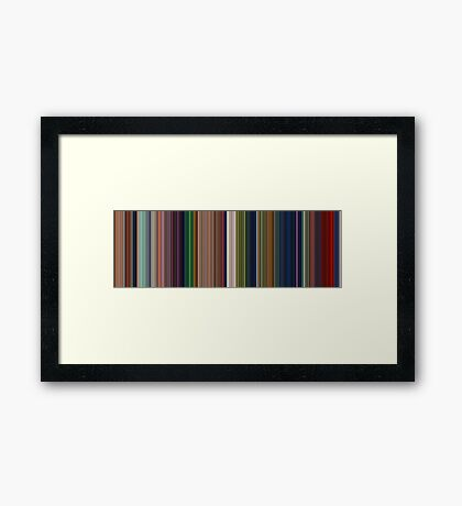 Moviebarcode: The Lion King (1994) [Simplified Colors] Framed Print