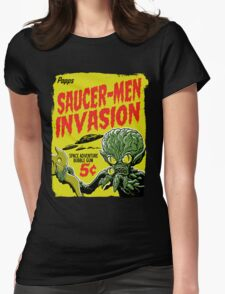 SAUCER-MEN INVASION Womens Fitted T-Shirt