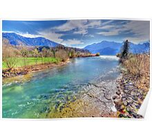 River Loisach HDR Poster