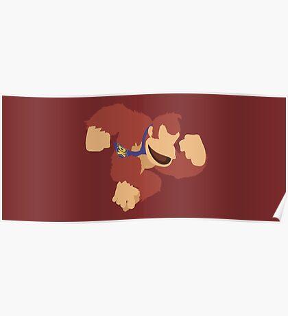 Donkey Kong (Red) - Super Smash Bros. Poster