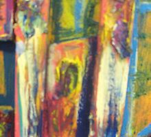 Untitled (yellow) 1/detail mixed media 2011 by fatchickengirl