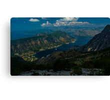 Kotor Bay in Montenegro Canvas Print