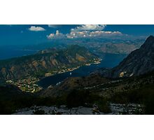 Kotor Bay in Montenegro Photographic Print