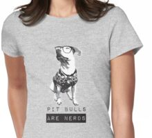 Pit bulls are Nerds Womens Fitted T-Shirt