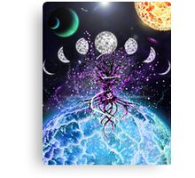 Space Tree of Life Canvas Print