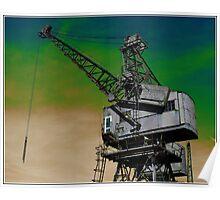 Waterside Crane Poster
