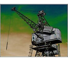 Waterside Crane Photographic Print