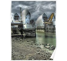 Open Barrier 9 - Thames Barrier in Greenwich Poster