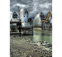 Open Barrier 9 - Thames Barrier in Greenwich Photographic Print