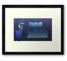 Glasses and bamboo - still life 6 Framed Print