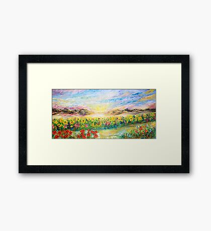 BOUNDARY Framed Print