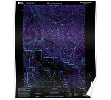 USGS Topo Map Oregon Buttes of The Gods 279223 1998 24000 Inverted Poster