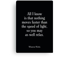 Whatever Works - Woody Allen's Greatest Lines Canvas Print