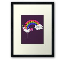 Forever Young Adult Official Logo Framed Print