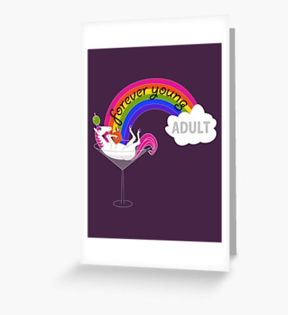 Forever Young Adult Official Logo Greeting Card