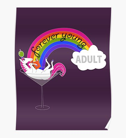 Forever Young Adult Official Logo Poster