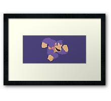 Donkey Kong (Purple) - Super Smash Bros. Framed Print