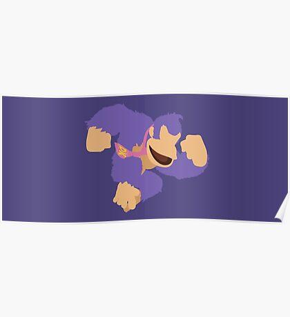 Donkey Kong (Purple) - Super Smash Bros. Poster