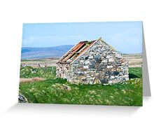 Building, Byre, Barn, Abandoned Greeting Card