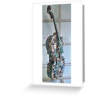 Displaced Cello. Greeting Card