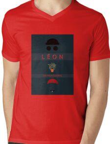 Léon :The Professional Mens V-Neck T-Shirt