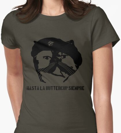 Hasta La Buttercup Siempre Womens Fitted T-Shirt