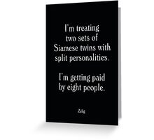 Zelig - Woody Allen's Greatest Lines Greeting Card
