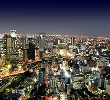 Osaka by Night by Atanas Bozhikov NASKO