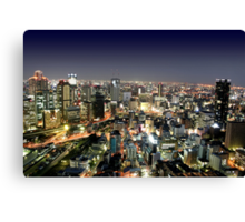 Osaka by Night Canvas Print