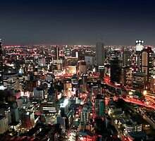 Osaka city by Night by Digital Editor .