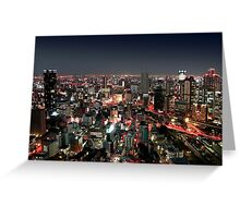 Osaka city by Night Greeting Card