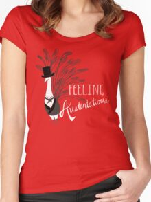 Peacock & Prejudice Women's Fitted Scoop T-Shirt