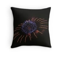Fireworks over Tokyo - Hanabi in august Throw Pillow