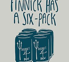 Finnick Has a Six-Pack (Dark Teal) by 4everYA