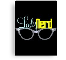 Proud LadyNerd (Grey Glasses) Canvas Print