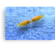 Kissing Fishes Canvas Print