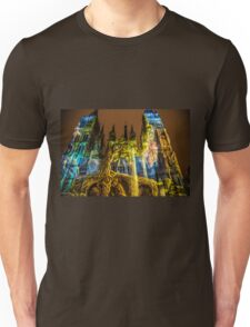France. Normandy. Rouen. Cathedral. Light and Sound Show II. Unisex T-Shirt