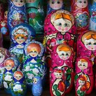 Matrioshka, russian set of dolls by Digital Editor .