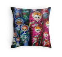 Matrioshka, russian set of dolls Throw Pillow