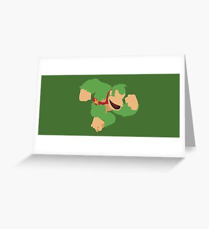 Donkey Kong (Green) - Super Smash Bros. Greeting Card