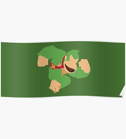Donkey Kong (Green) - Super Smash Bros. Poster