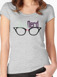 Proud LadyNerd (Black Glasses) Women's Fitted Scoop T-Shirt
