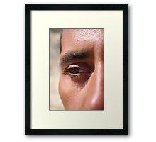 Face close up Framed Print