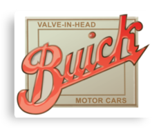 Buick valve in head vintage sign reproduction Canvas Print