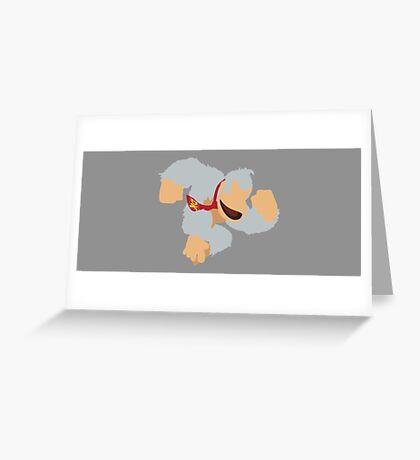 Donkey Kong (White) - Super Smash Bros. Greeting Card